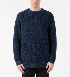Barney Cools Denim Ripple Knit Sweater Model Picture