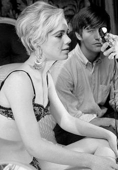 Edie Sedgwick and Gino Piserchio on set of Beauty #2, 1965