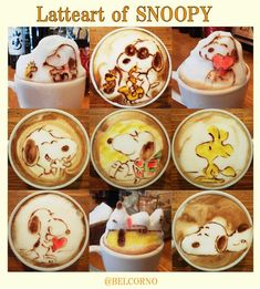 Snoopy Lattes! - I love Peanuts too much not to share this!