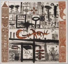 Ulumago by John Pule Artist Painting, Painting & Drawing, Tapas, Auckland Art Gallery, New Zealand Art, Nz Art, Maori Art, European Paintings, Bird Drawings