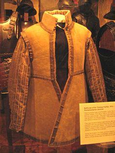 Buff coat of Sir Thomas Fairfax 1612-1671, Parliamentarian General (probably around 1640s)
