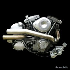 NO 38: HARLEY DAVIDSON SHOVELHEAD CHOPPER MOTORCYCLE  ENGINE (2) | by Gordon Calder