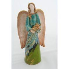 Angellum.pl,$34, ceramic Angel with flowers, angellum@interia.pl