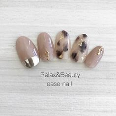 ネイル ネイル in 2020 Cute Nail Polish, Gel Nail Art, Nail Manicure, Uñas Color Cafe, Japan Nail Art, Self Nail, Nail Charms, Nail Candy, Japanese Nails