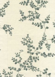 Shadow Fern Fabric from GP & J Baker - BF10458/615 - Teal