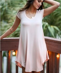 V-neck Short Sleeves Drop Casual Loose Pure Color Blouse