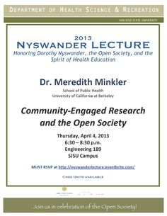 Nyswander 2013 - Lecture