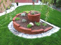 14 Brick Flower Bed Design Ideas You Can Replicate Instantly - garden landscaping Brick Flower Bed, Flower Beds, Diy Flower, Brick Planter, Shed Landscaping, Flower Bed Designs, Garden Planning, Garden Beds, Garden Projects