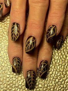 Thanksgiving Nail Art: Because, Duh+#refinery29