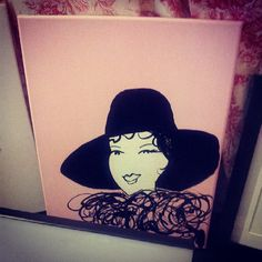 Trying new concepts... #fashion #acrylics #fashionillustrator #chinaink #hat #fur #fall #face #retro #pinkandblack #hautecouture #haute #couture #tagsforlikes #instafashion #inspiration #forsale