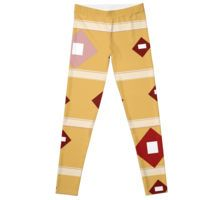 Contemporary Geometric Design - Gold/Rust/Burgundy Leggings Burgundy Leggings, Rust, Custom Design, Pajama Pants, Contemporary, Gold, T Shirt, Shopping, Fashion