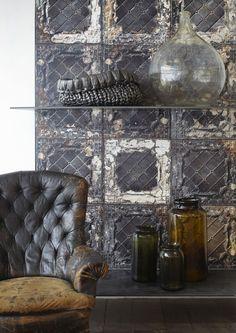 Brooklyn Tin Wallpaper TIN-07 by Merci #Merci #NLXL #Wallpaper #Interior #Home #Decor #Living #Brooklyntin #Tin #Tiles #Wall