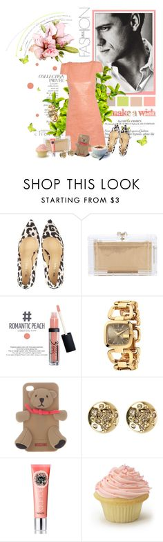 """""""Happy Birthday, polyfriend!"""" by auby ❤ liked on Polyvore featuring By Terry, Anja, Alice + Olivia, Oleg Cassini, Charlotte Olympia, 3 Concept Eyes, Gucci, Moschino, Karen Millen and Benefit"""