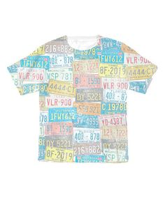 Another great find on #zulily! White License Plate Sublimation Tee - Toddler & Kids #zulilyfinds