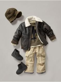 Aviator outfit from Baby Gap. Adorable. I think it would be cute to hang on the wall somewhere with a picture of baby actually wearing it.