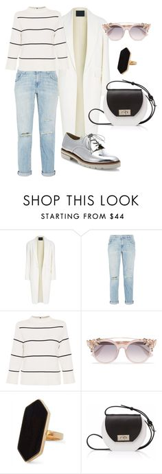 """#595"" by tubbie ❤ liked on Polyvore featuring Alexander Wang, Current/Elliott, L.K.Bennett, Jimmy Choo, Jaeger, Joanna Maxham and Stuart Weitzman"