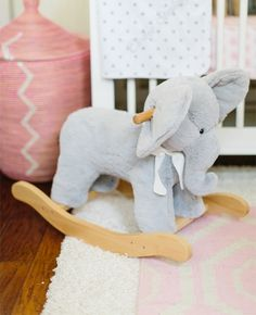 A Bright Glitter Guide Nursery is part of Baby room - A Bright Glitter Guide Nursery VintageElephant Nursery Nursery Office, Girl Nursery, Pottery Barn Kids, Nursery Themes, Nursery Ideas, Nursery Decor, Room Ideas, Baby Elephant, Pink Elephant Nursery