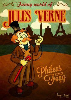 Jules Verne's Phileas Fogg  #Illustration