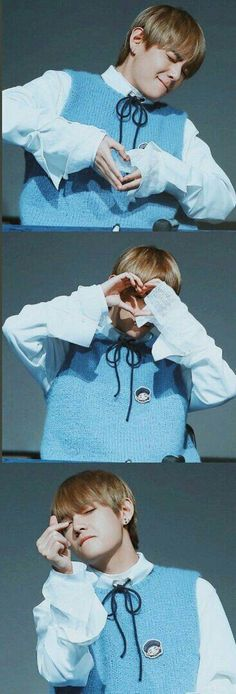Kim Taehyung with heart hands concept