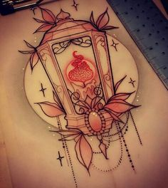 What does lantern tattoo mean? We have lantern tattoo ideas, designs, symbolism and we explain the meaning behind the tattoo. Dibujos Tattoo, Desenho Tattoo, Diy Tattoo, Custom Tattoo, Tattoo Art, Lamp Tattoo, Tattoo Sketches, Tattoo Drawings, Peace Sign Tattoos