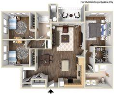 Highland Floor Plan 1346 sq ft http://www.gatewayat2534.com/