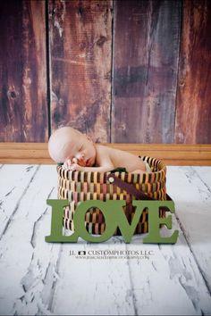 #newborn #baby #photos #basket #love