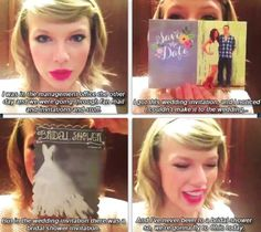 I watched this video and it was so nice of her! This is one of the many reasons I love Taylor :) Long Live Taylor Swift, Taylor Swift Quotes, Taylor Alison Swift, Swift 3, My Bridal Shower, She Song, Ed Sheeran, Her Music, Celebs