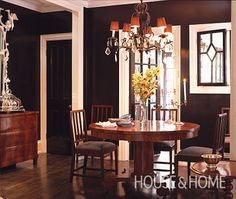Photo Gallery: Tommy Smythe's Houses | House & Home. Wall color BM safety black.