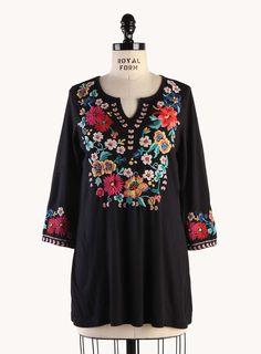 Cassie 3/4 Bell Sleeve Boho Tee - Tops - Clothing