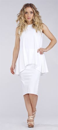 Sympli the Best, White House Design Love this one! Sleeveless True tunic and Diva skirt. Quite polished and cool looking.