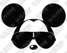 Cool Mickey Mouse Aviator Sunglasses Cut File Set in SVG, EPS, DXF, JPEG, and PNG