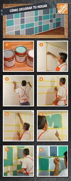 Dale un diseño único a tu pared y #HazloTuMismo