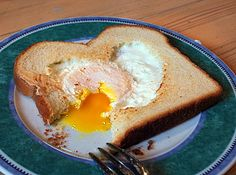 Egg in toast for #Valentines Day