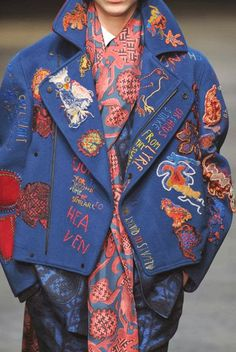 patternprints journal: PRINTS, PATTERNS, TEXTURES AND DETAILS FROM THE RECENT LONDON FASHION WEEK (FALL/WINTER 2014/15 MENSWEAR) / 3