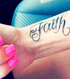 Faith. Love the letters