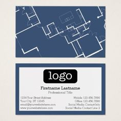 Browse business card design templates moo united states professional construction or architect blueprint and logo business card malvernweather Gallery