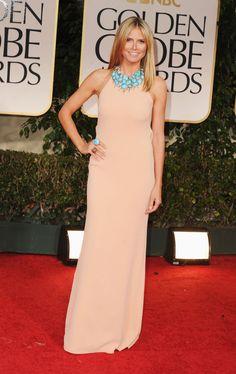 Heidi Klum in Calvin Klein - 2012 Golden Globes