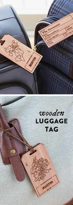 Showcase your favorite city with this wooden luggage tag. Features a laser engraved city map on one side, and space for your personal contact information on the other to always keep track of your travel bag.