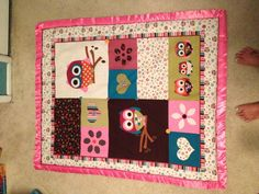 Sweet baby owl quilt