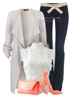 Lace & Leather Spring by casuality on Polyvore featuring Oscar de la Renta, MiH Jeans, Christian Louboutin and Burberry