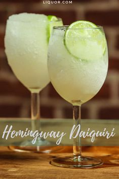 The Hemingway Daiquiri Is a Rum-Soaked Masterpiece Celebrate summer with this frozen daiquiri recipe! This rum cocktail is just the blended drink you want to share with your friends. Frozen Daiquiri, Daiquiri Cocktail, Cocktail Drinks, Rum Cocktail Recipes, Liquor Drinks, Cocktail Ideas, Drinks Alcohol, Party Drinks, Purple Cocktails