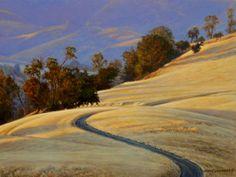 Figeuroa Shadows 9x12, painting by artist George Lockwood