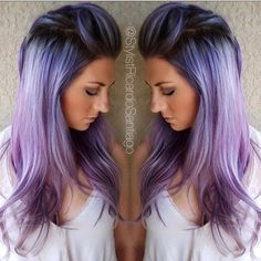 Com hairstyles purple hair, hair color purple e hair color. Pastel Hair, Ombre Hair, Curls Haircut, Haircut Long, Hair Color Purple, Hair Colors, Pastel Purple, Light Purple, Fun Hair Color