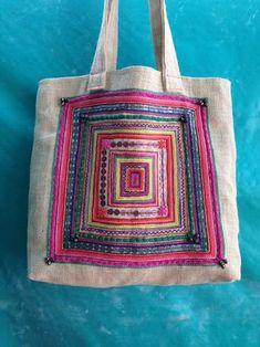 刺し子トートバッグ自作 Patchworked fabric bag with Sashiko stitching. Ethnic Bag, Embroidery Bags, Art Bag, Boho Bags, Jute Bags, Patchwork Bags, Linen Bag, Denim Bag, Fabric Bags