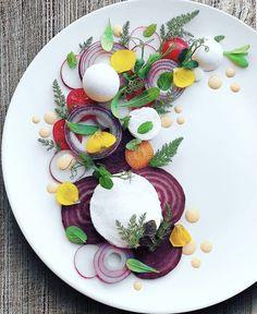 Vegan Mozzarella, Beetroot, Vegan Dishes, Fennel, Basil, Onion, Mint, Ethnic Recipes, Salads