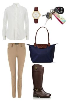 """neutrals"" by zoeantonpeat ❤ liked on Polyvore featuring Polo Ralph Lauren, Lauren Ralph Lauren, Tory Burch, Longchamp, Kate Spade, Lilly Pulitzer, preppy, Prep and southernprep"