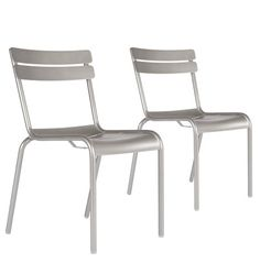 Fermob Luxembourg Chair Set Steel Gray - Set of 2