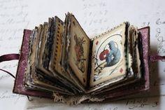 Miniature Alice in Wonderland book using Graphic45 Halloween in wonderland paper....I just LOVE it!