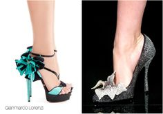 12 Pair of Over-the-Top Glamorous Wedding Shoes!   I want the Valentino Couture pump on the right!!!