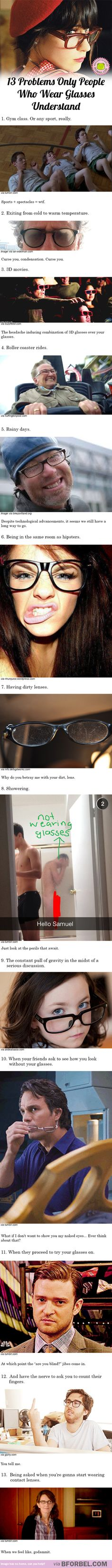 13 Struggles Only People Who Wear Glasses Understand…